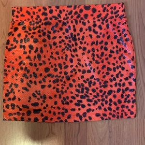Zenana Outfitters mini skirt red/blk